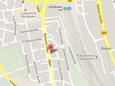 Anfahrtsmap Wiesbaden