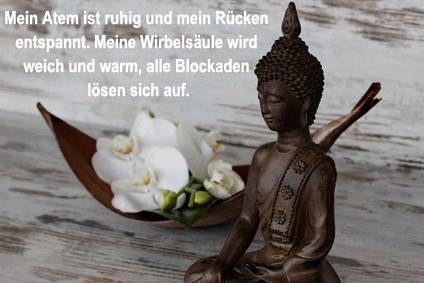 Budhha mit Text